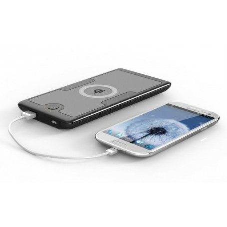 Batteria esterna portatile da 6000 mAh e caricabatterie wireless compatibile Qi Qshell - 1