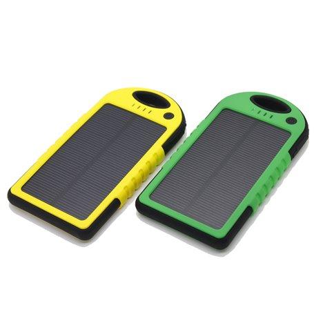Batterie Externe Portable 5000 mAh Etanche avec Chargeur Solaire