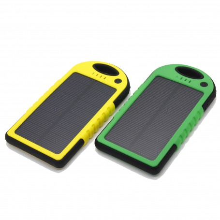 5000 mAh Waterproof Solar Charger Power Bank