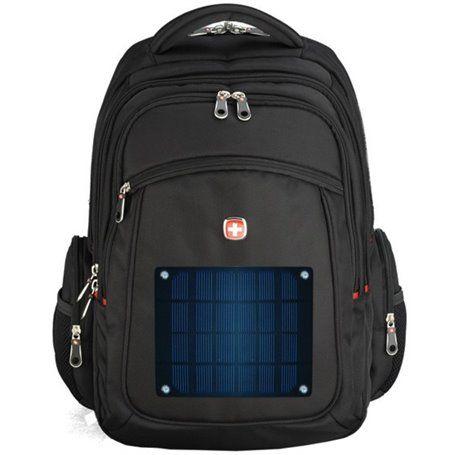 Mochila com carregador solar universal de 2 watts e bateria de 2600 mAh Eco Miracle - 1