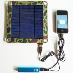 Universal Solar Charger Kit 3 Watts and Powerbank 2600 mAh