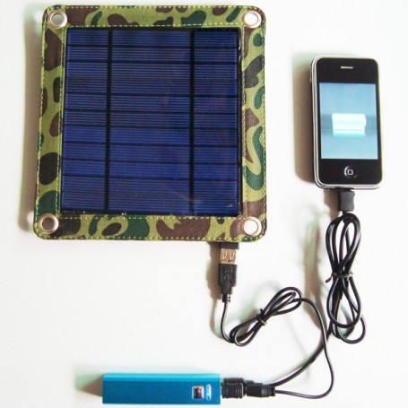 Universal Solar Charger Kit 3 Watts and Powerbank 2600 mAh