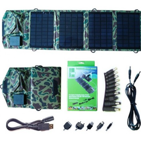 Carregador solar universal de 14 watts e controlador de tensão Eco Miracle - 1