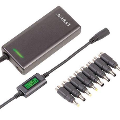 Adaptador universal ultradelgado de 90 vatios con pantalla LCD y salida USB Lvsun - 1
