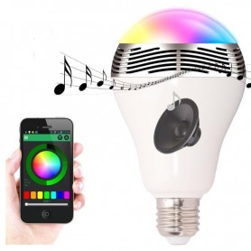 Bluetooth RGBW Speaker and LED Bulb