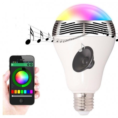 Lâmpada LED RGBW com controle Bluetooth e mini alto-falante Bluetooth NF-BL-SK Newfly - 4