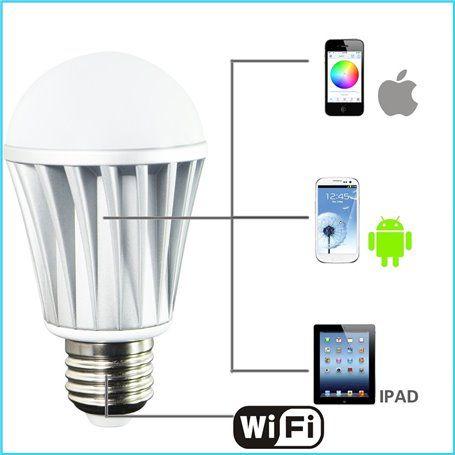 RGBW LED-lamp met Wifi-bediening Newfly - 1