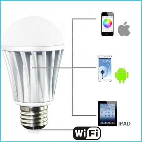 Lampe LED RGBW à Commande Wifi
