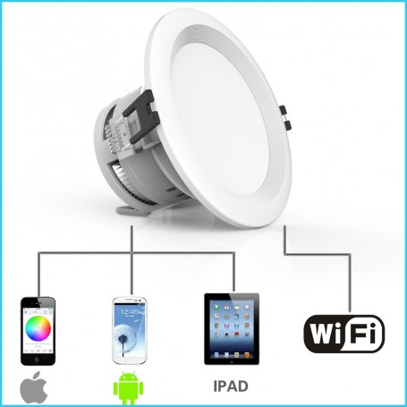 Plafoniera LED RGBW con controllo Wifi Newfly - 5