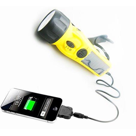 Torcia e dinamo per caricabatterie solare di emergenza Eco Miracle - 1