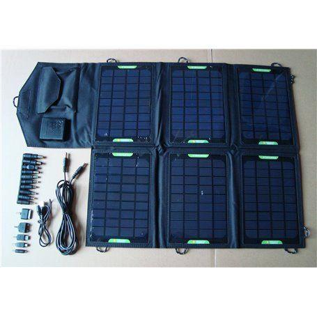 Carregador solar universal de 21 watts e controlador de tensão Eco Miracle - 1