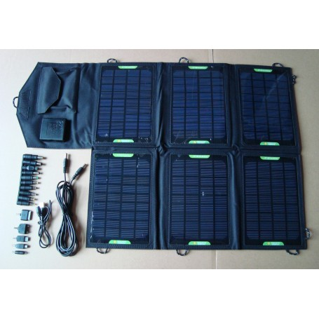 Universal Solar Charger Kit 21 Watts and Voltage Controler Eco Miracle - 1