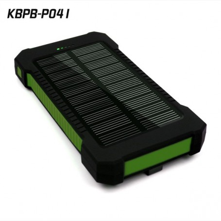 batterie externe portable 10000 mah avec chargeur solaire. Black Bedroom Furniture Sets. Home Design Ideas