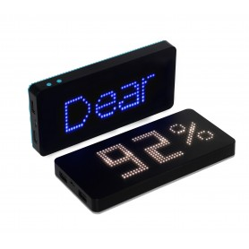 8000 mAh Solar Charger Power Bank with LED Clock