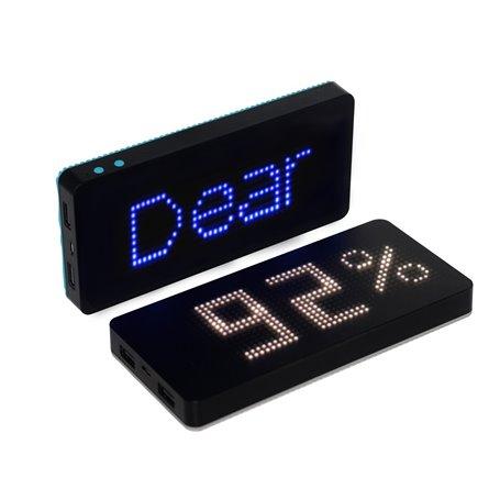 Batterie Externe Portable 8000 mAh avec Réveil et Afficheur LED