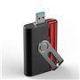 1000 mAh OTG USB Micro SD Card Reader and Portable Power Bank