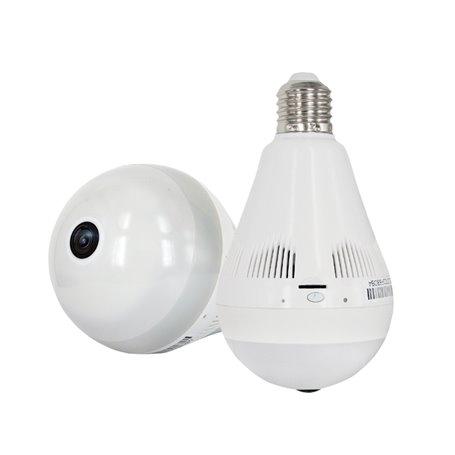 WiFi HD 1280x960p Smart Hidden Camera in a White Light LED Light Bulb