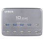 Station de Recharge Intelligente 10 Ports USB 60 Watts et Hub USB