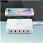 Intelligente Ladestation 5 USB-Anschlüsse 60 Watt Qi-kompatibel Lvsun - 3