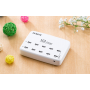 Station de Recharge Intelligente 10 Ports USB 60 Watts Quick Charger QC 2.0