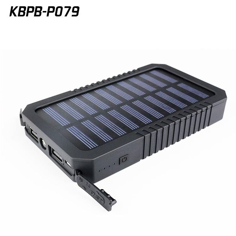 batterie externe portable 15000 mah avec chargeur solaire. Black Bedroom Furniture Sets. Home Design Ideas