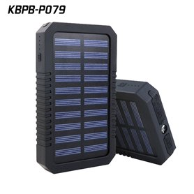 Batterie Externe Portable 15000 mAh avec Chargeur Solaire