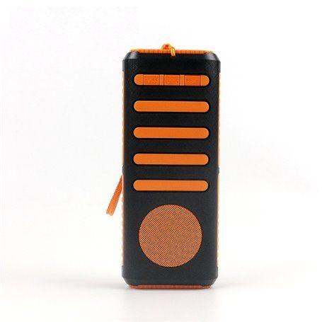 7800 mAh Bluetooth Speaker Powerbank with LED Flashlight