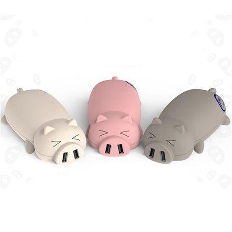 Bateria externa portátil 10000 mAh Design Piggy Domars - 1