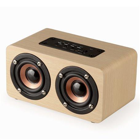 Alto-falante Bluetooth Mini Design Vintage Duplo Favorever - 1