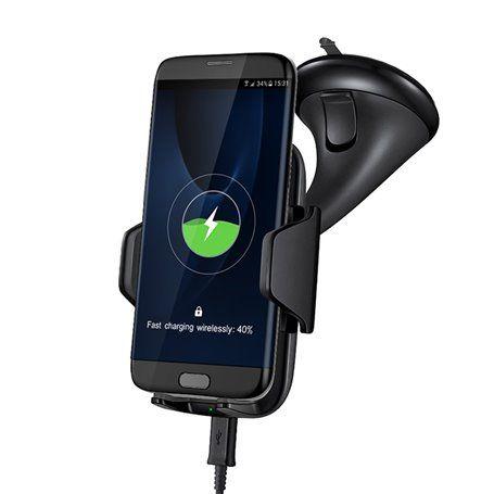 Supporto regolabile e caricabatterie wireless compatibile Qi Sinobangoo - 1