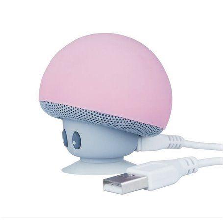 Mini Haut-Parleur Bluetooth et Lampe LED Design Champignon