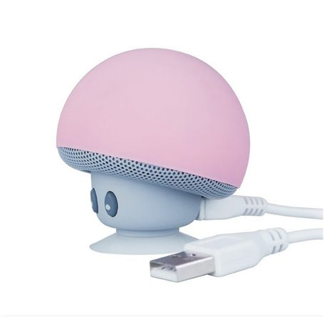 Mini Haut-Parleur Bluetooth et Lampe LED Design Champignon