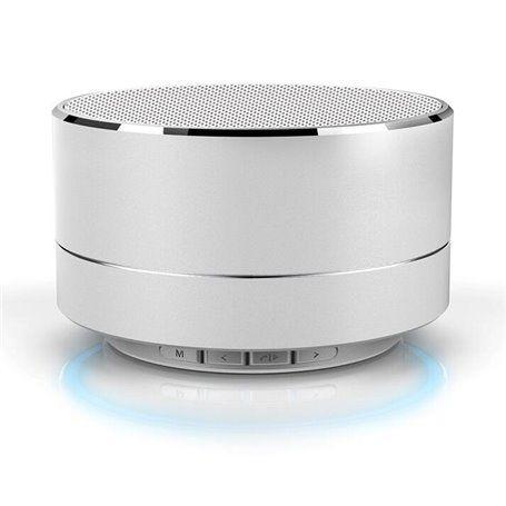 Mini Bluetooth-luidspreker van geborsteld metaal met reflecterend LED-licht A10 Favorever - 1