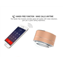 Mini Bluetooth-luidspreker van geborsteld metaal met reflecterend LED-licht A10 Favorever - 6