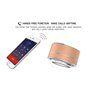 Mini Haut-Parleur Bluetooth Design Métal Brossé avec Lumière LED Réfléchissante