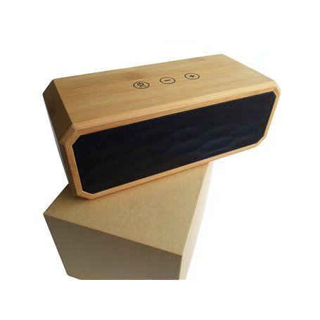 Alto-falante estéreo Bluetooth de bambu com mini design Favorever - 1