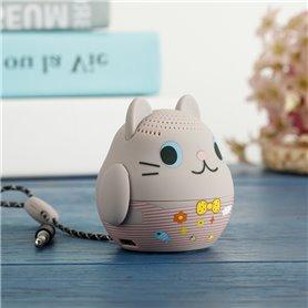 Cartoon Grey Cat Bluetooth Speaker