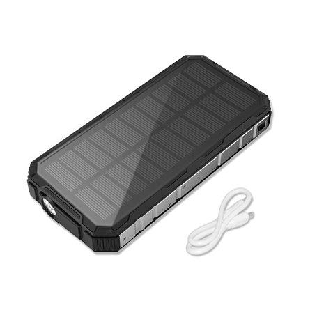 Batterie Externe Portable 20000 mAh Waterproof avec Chargeur Solaire Doca - 1