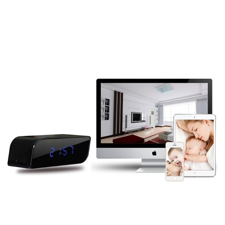 Réveil avec Caméra Espion Wifi HD 1280x720p