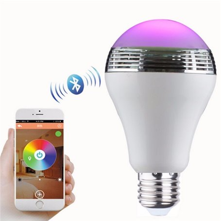 Lampe LED RGBW à Commande Bluetooth et Mini Haut-Parleur Bluetooth