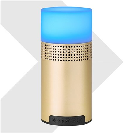 Bluetooth Speaker with LED Lamp Light