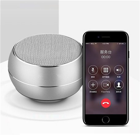 Mini Bluetooth-luidspreker van geborsteld metaal met reflecterend LED-licht BT632 Favorever - 1