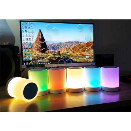 Bluetooth Speaker with LED Lamp Light BL05 Favorever - 1