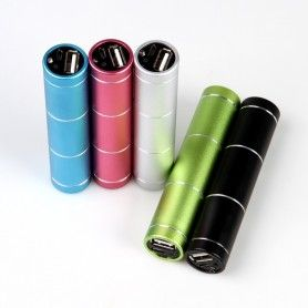 2600 mAh Lipstick Portable Power Bank