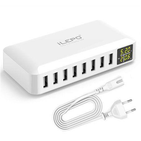 Inteligentna stacja ładująca 8 portów USB 50 watów W012 Ilepo - 1