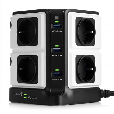 250 Volt geschützte gemischte Steckdosenleiste und 5 Volt USB 8Plus6 Bestek - 1
