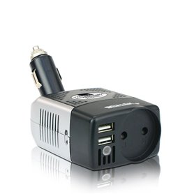 Car Power Inverter with 250VAC and USB 5VDC Plugs 150 Watts