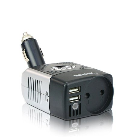 250 Volts Mixed Protected Multi-Socket Inverter Block and 5 Volts USB on Cigarette Lighter 150 Watts Bestek - 1