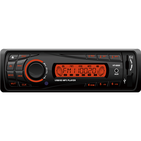 Auto-Rádio Digital AM FM DAB RDS Leitor de MP3 Digital USB SD Bluetooth HT-889 GLK Electronics - 1