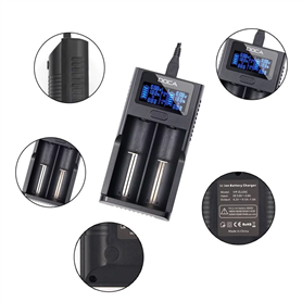 Chargeur Universel Intelligent 3.7 Volts pour Batteries Li-ion Rechargeables